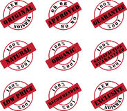 Stamp Business Set Royalty Free Stock Photo