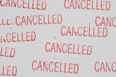 Stamp  cancelled  on white paper. Stamp  cancelled red color on white paper Royalty Free Stock Images