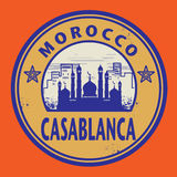 Stamp Casablanca, Morocco Royalty Free Stock Images