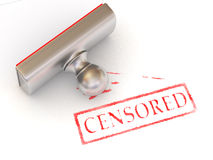 Stamp censored Stock Images