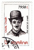 Stamp with Charles Chaplin Stock Images