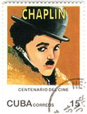Stamp with Charles  Chaplin Royalty Free Stock Photos