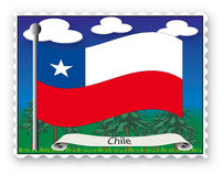Stamp Chile Stock Photo