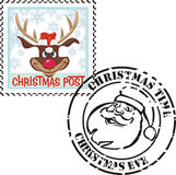 Stamp christmas - christmas time Royalty Free Stock Images