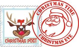 stamp christmas - postal letter Stock Image
