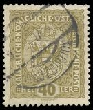 Stamp Coat of arms. Austria - stamp printed in1916, Series Crown, Emperor Franz Joseph, Coat of arms Stock Photo