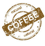 Stamp coffee Royalty Free Stock Image
