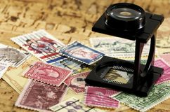 Stamp Collecting royalty free stock photography
