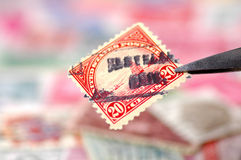 Stamp Collecting Royalty Free Stock Image