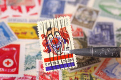 Stamp Collecting 2 Royalty Free Stock Photo