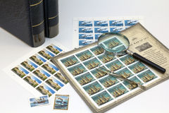 Stamp collecting Royalty Free Stock Photos