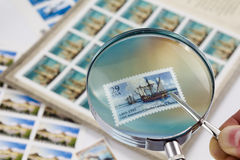Stamp collecting Stock Image