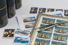 Stamp collecting Stock Photography