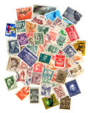 Stamp collection. Collection of old postage stamps of Yugoslavia Stock Photo