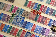 Stamp collection Royalty Free Stock Photo