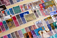 Stamp collection Royalty Free Stock Images
