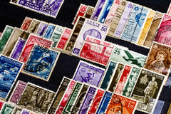 Stamp collection Stock Photography