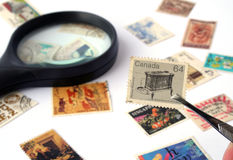 Stamp Collection Royalty Free Stock Photography