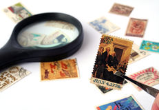 Stamp collection Royalty Free Stock Photos