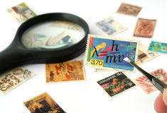 Stamp Collection Stock Image