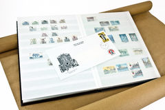 Stamp collectors album Royalty Free Stock Images