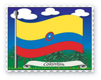 Stamp Colombia Stock Images