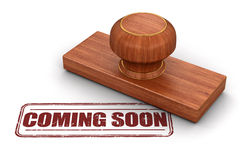 Stamp Coming soon Royalty Free Stock Photography