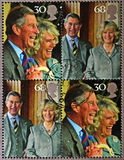 Stamp commemorating wedding the Prince of Wales Stock Photo