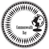 Stamp Commonwealth Day Royalty Free Stock Photo