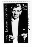 Stamp with composer Leonard Bernstain Stock Images