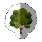 Stamp creative tree icon. Illustraction design image Stock Image