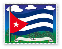 Stamp Cuba stock photography