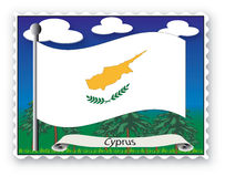 Stamp Cyprus Royalty Free Stock Photography