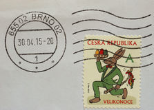 Stamp of Czech Republic Stock Images