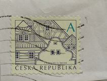 Stamp of Czech Republic Stock Photography