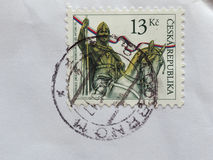 Stamp of Czech Republic Stock Photos
