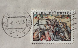 Stamp of Czech Republic Royalty Free Stock Images