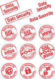 Stamp data security Royalty Free Stock Image