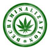Stamp of Decriminalization. Marijuana, green Royalty Free Stock Photography