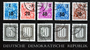 Stamp Deutsche Demokratische Republik Stock Images