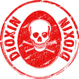 Stamp dioxin. Rubber stamp DIOXIN in red Royalty Free Stock Photography