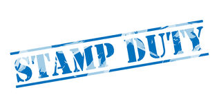Stamp duty blue stamp Royalty Free Stock Image