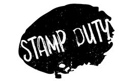 Stamp Duty rubber stamp Royalty Free Stock Photography