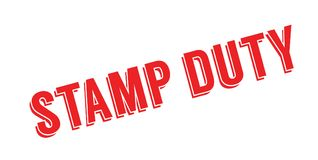 Stamp Duty rubber stamp Stock Image