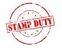 Stamp duty. Rubber stamp with text stamp duty inside,  illustration Royalty Free Stock Photos