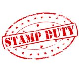 Stamp duty. Rubber stamp with text stamp duty inside,  illustration Royalty Free Stock Photo