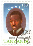 Stamp with Eddie Murphy royalty free stock photography