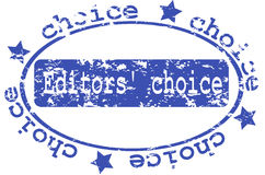 Stamp with the editors choice Stock Image