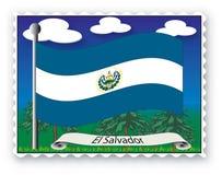 Stamp El Salvador Royalty Free Stock Image