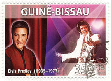 Stamp with Elvis Presley. Stamp with famous singer Elvis Presley Royalty Free Stock Photos